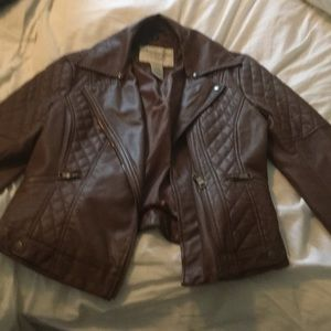 American Rag Faux Leather Biker Jacket